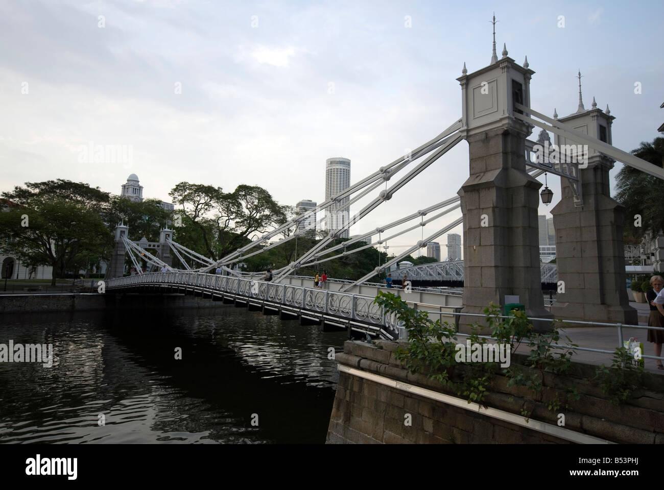 Cavenagh bridge - Stock Image