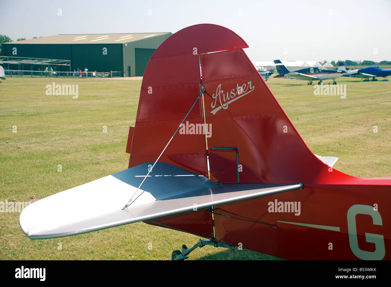 Auster light aeroplane - Stock Image