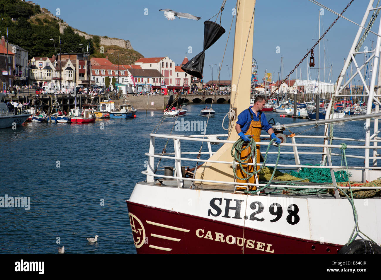 Scarborough Harbour and Harbourside - Stock Image