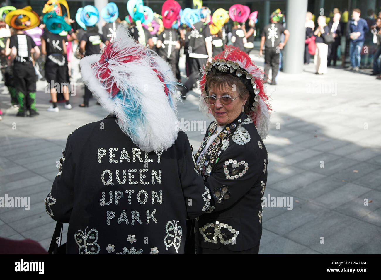 Pearly Queen's Upton Park Stock Photo