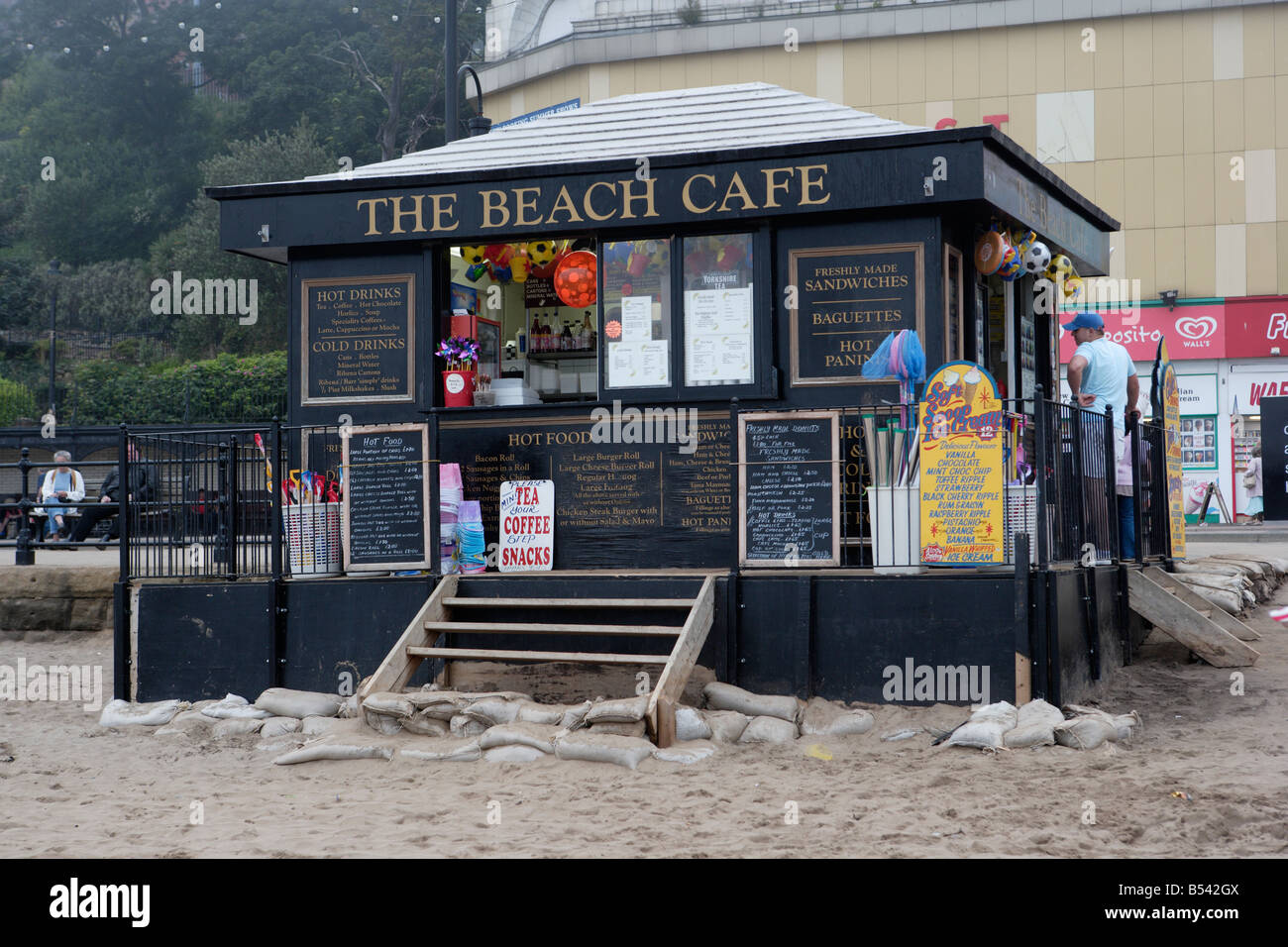 The Beach Cafe Scarborough - Stock Image