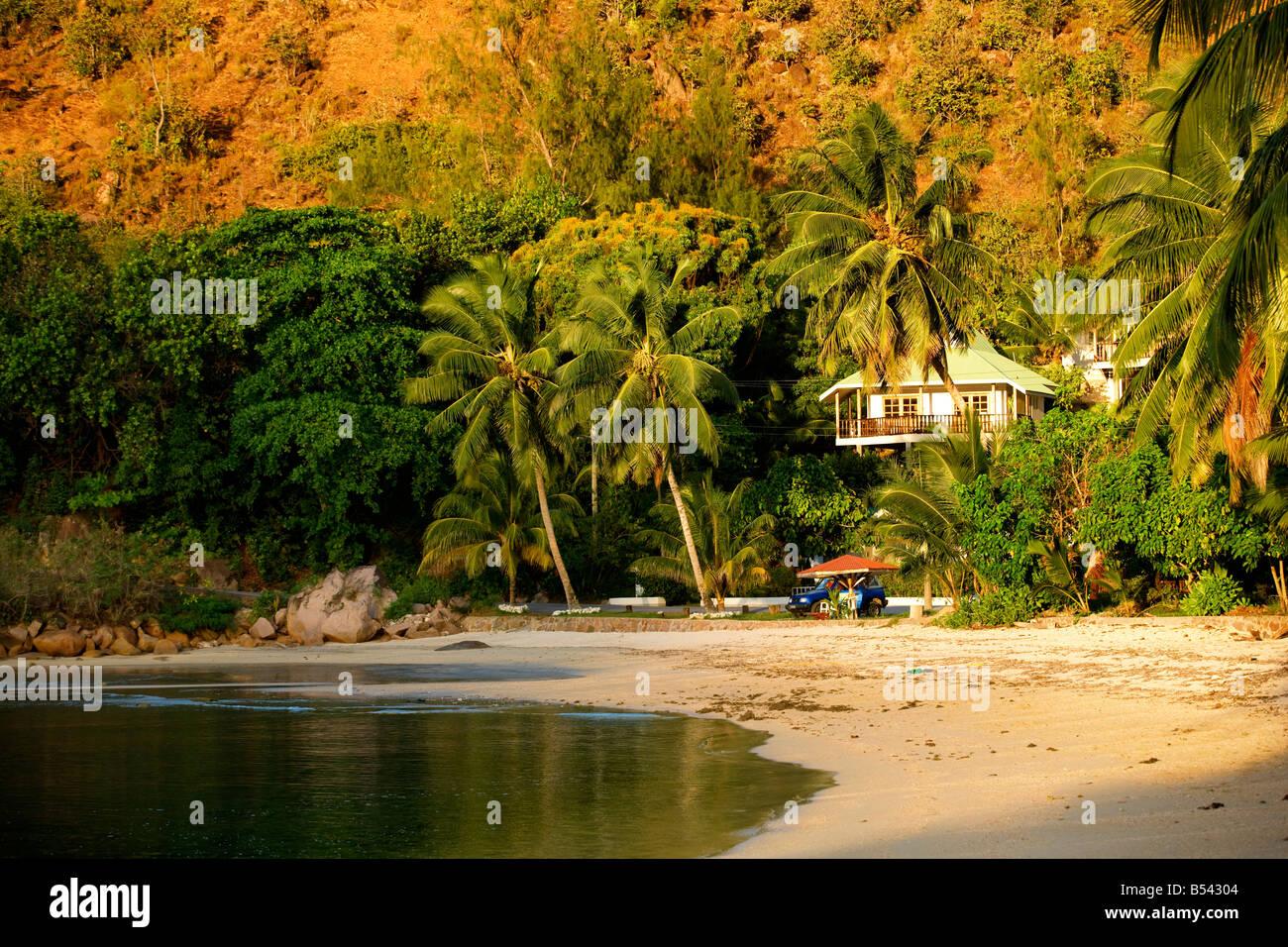 Anse Possession in Praslin island Seychelles - Stock Image
