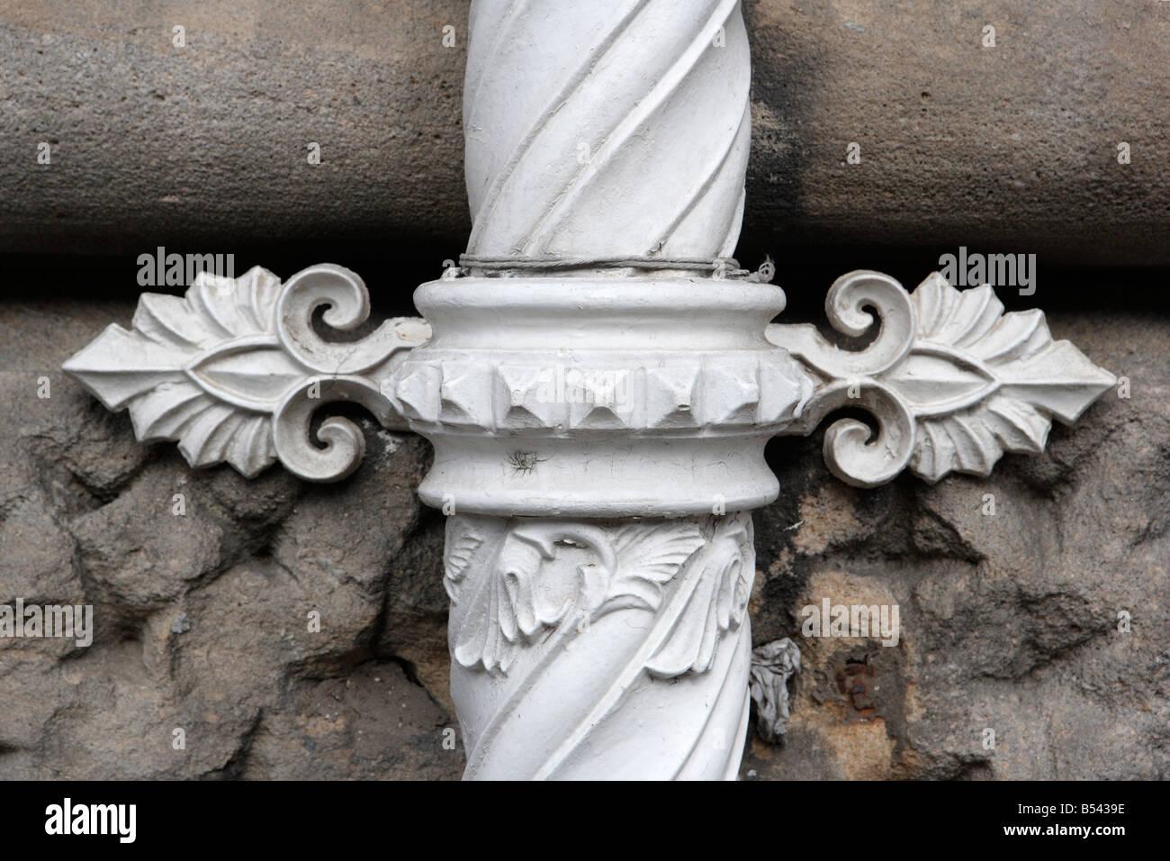 Victorian Drainpipe Fitting, Grand Hotel, Scarborough - Stock Image