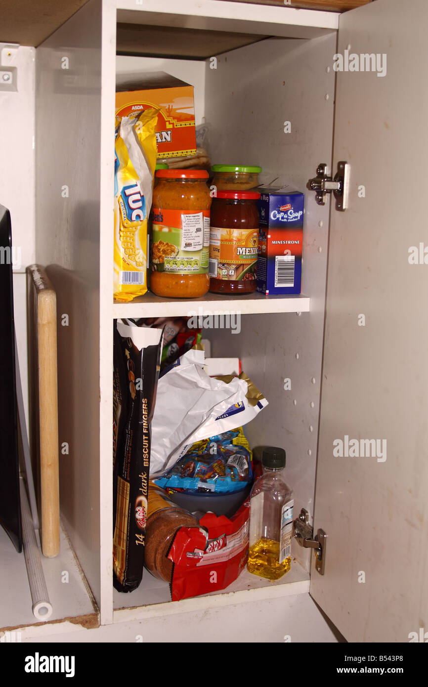 Kitchen cupboard - Stock Image