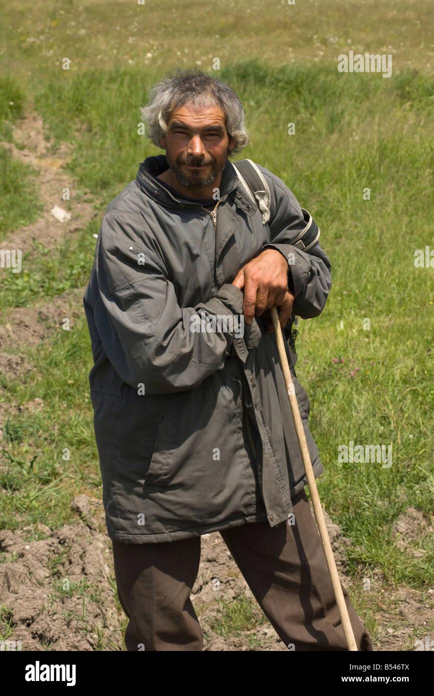 Traditional shepherd Transilvania Romania Stock Photo