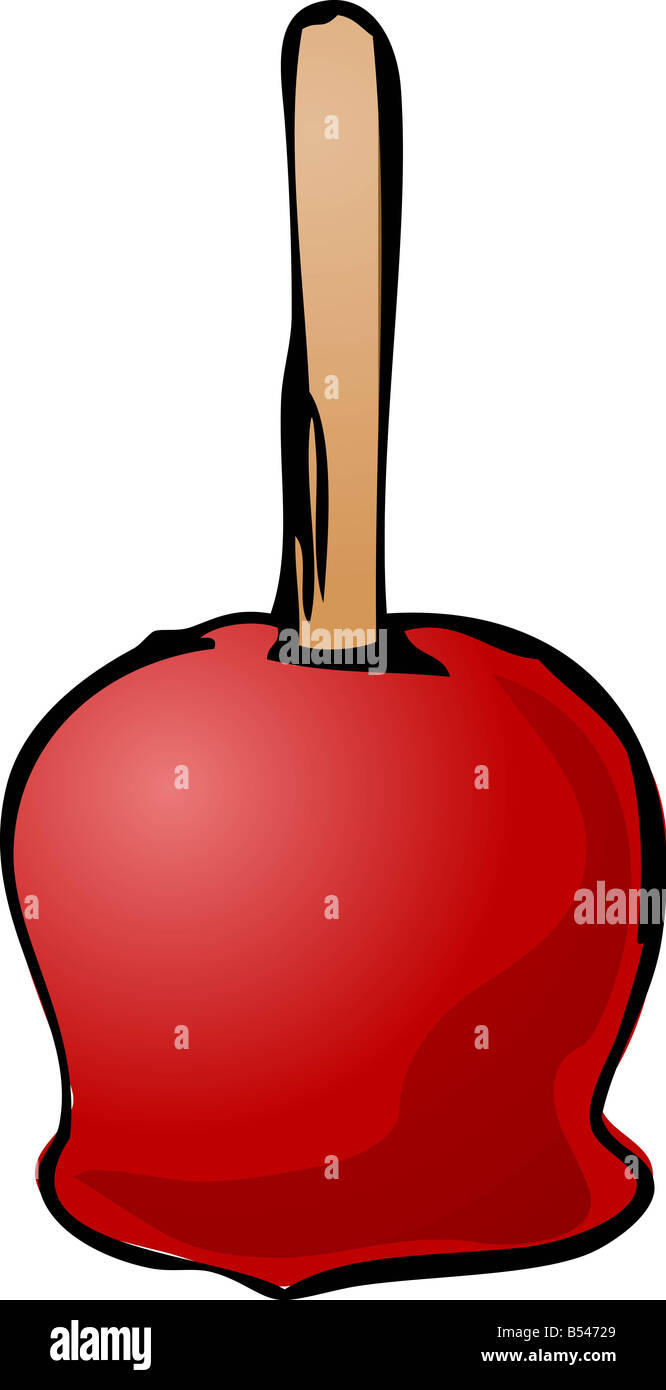Illustration Of Caramel Apple On A Stick Isometric 3d Illustration Stock Photo Alamy