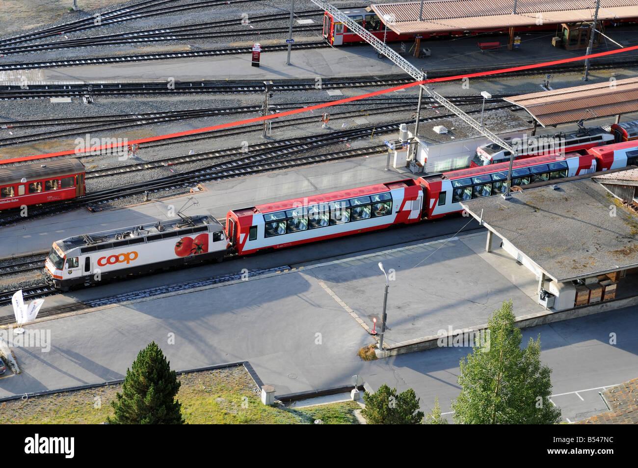 St. Moritz Station - Stock Image
