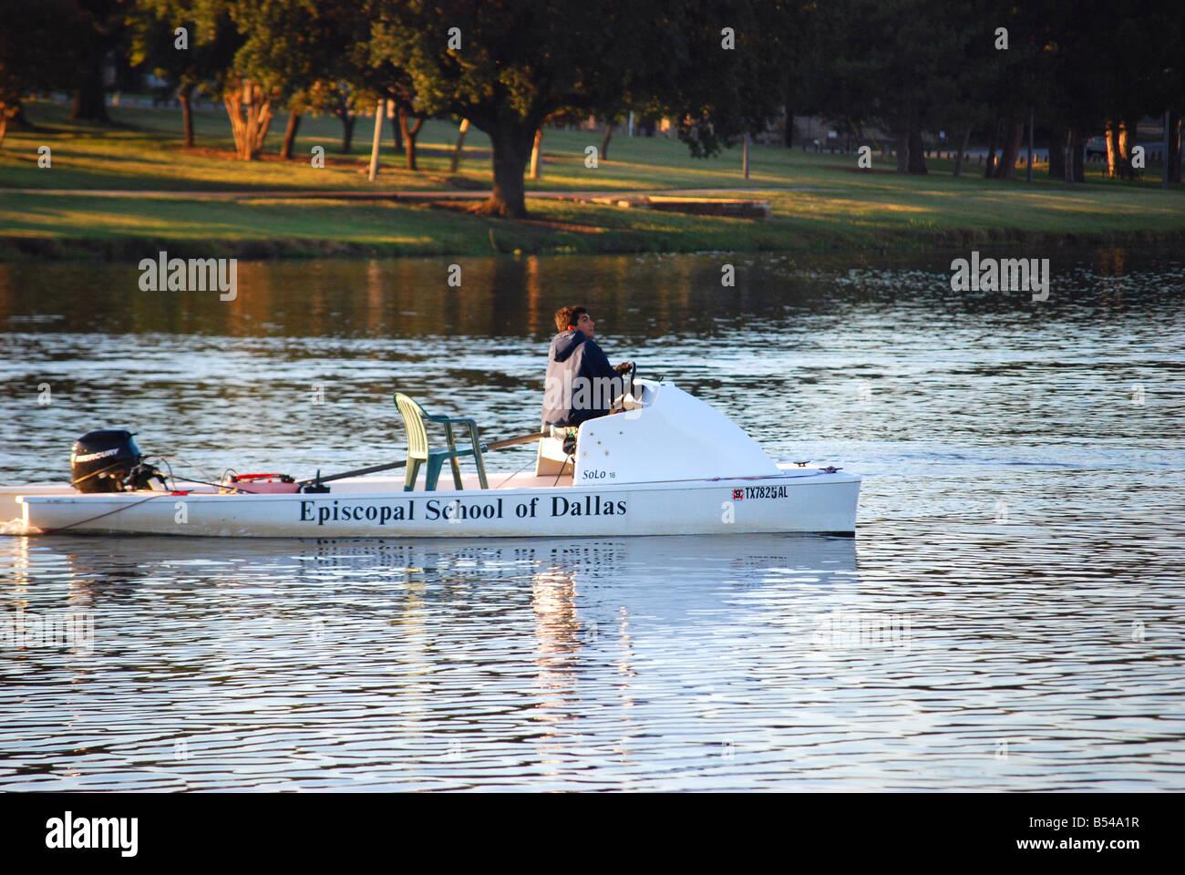 Dallas Episcopal School Boat - Stock Image