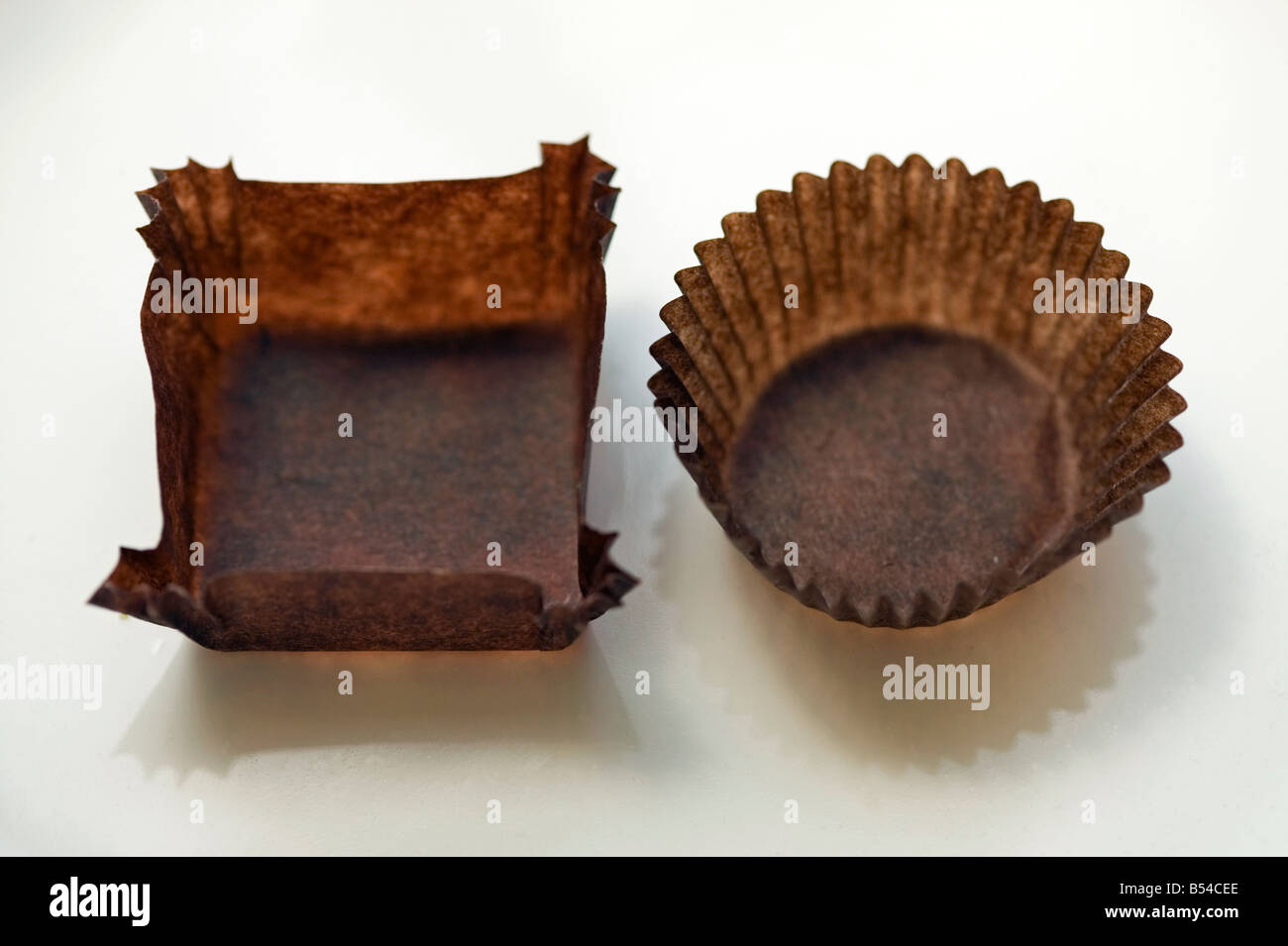 empty candy chocolate wrappers - Stock Image