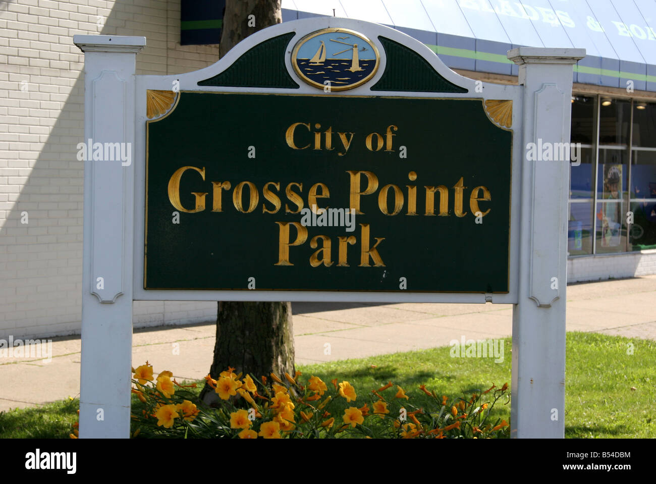 City of Grosse Pointe Park sign - Stock Image