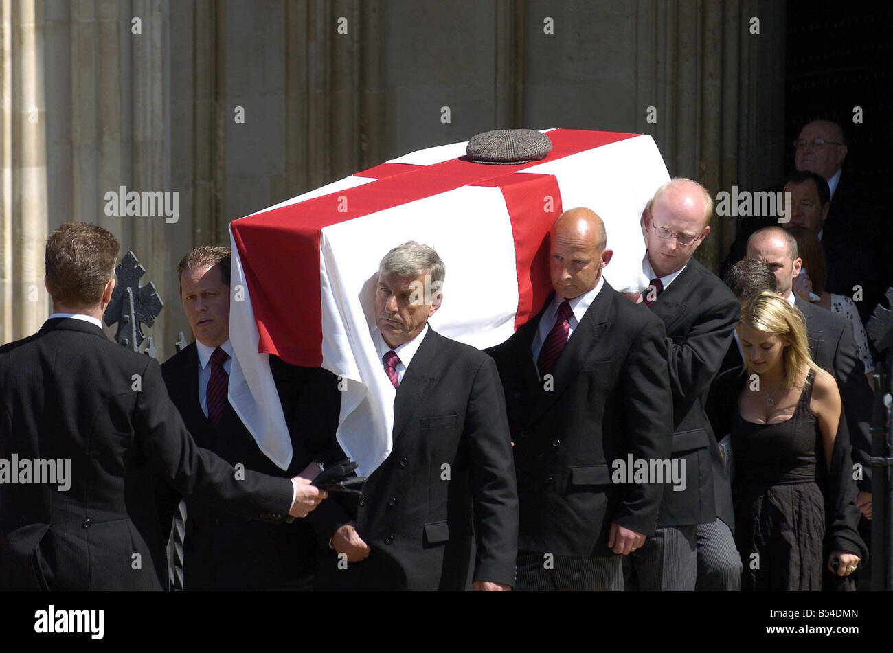 Alan Ball funeral Winchester cathedral Stock Photo