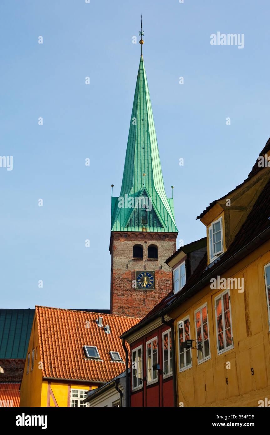 Cathedral at Helsingør Denmark - Stock Image