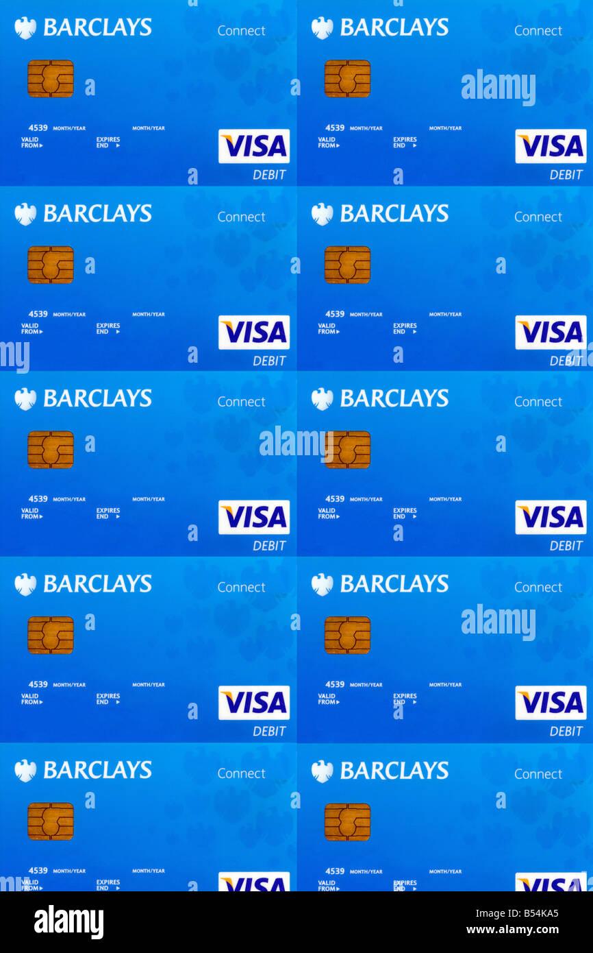 Barclays Bank Debit Cards Blank Stock Photo: 20386637 - Alamy