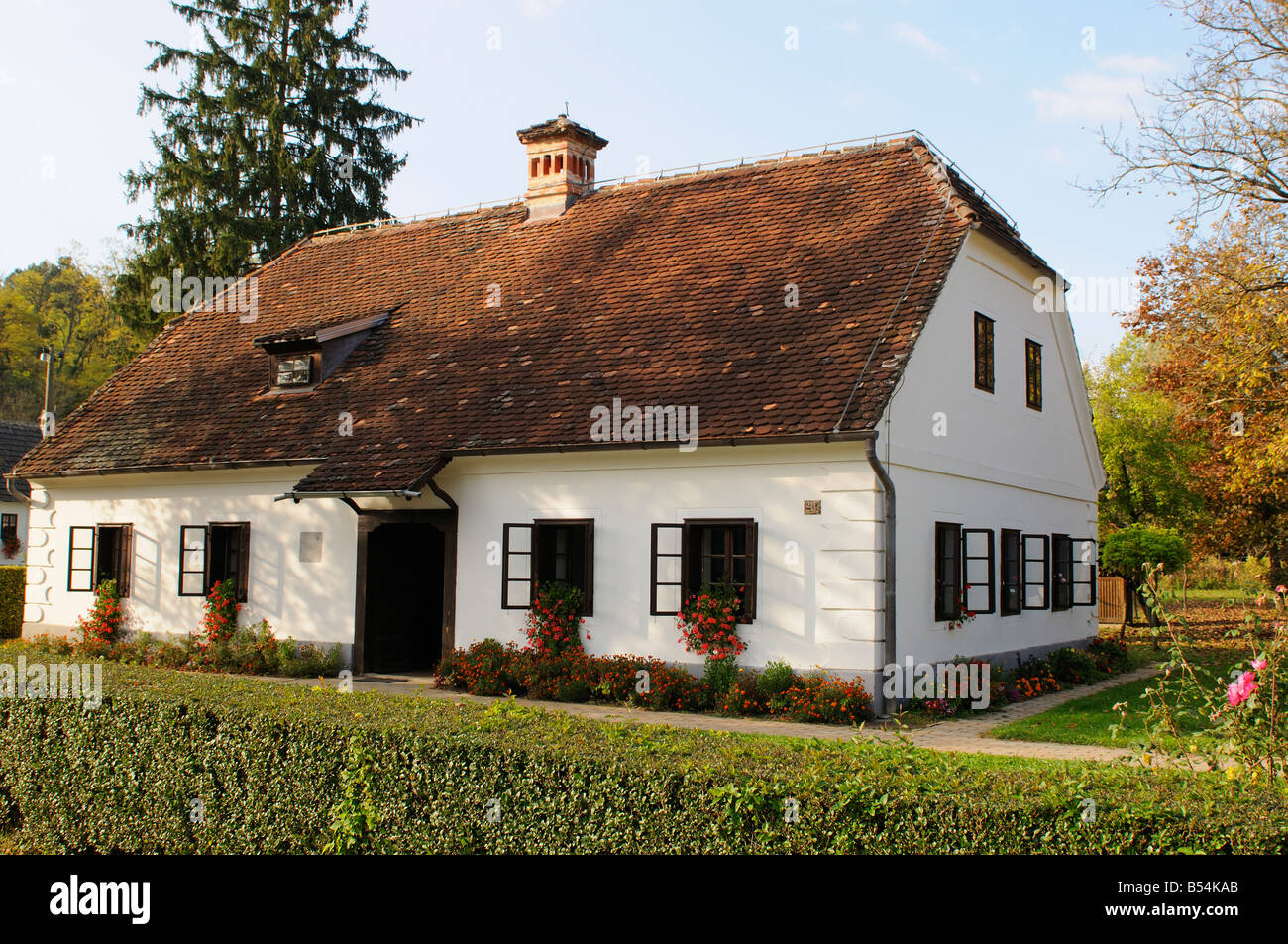 Birth house of Josip Broz Tito featuring Memorial Museum of  Marshal Tito, Kumrovec, Northen County of Zagorje Croatia Stock Photo