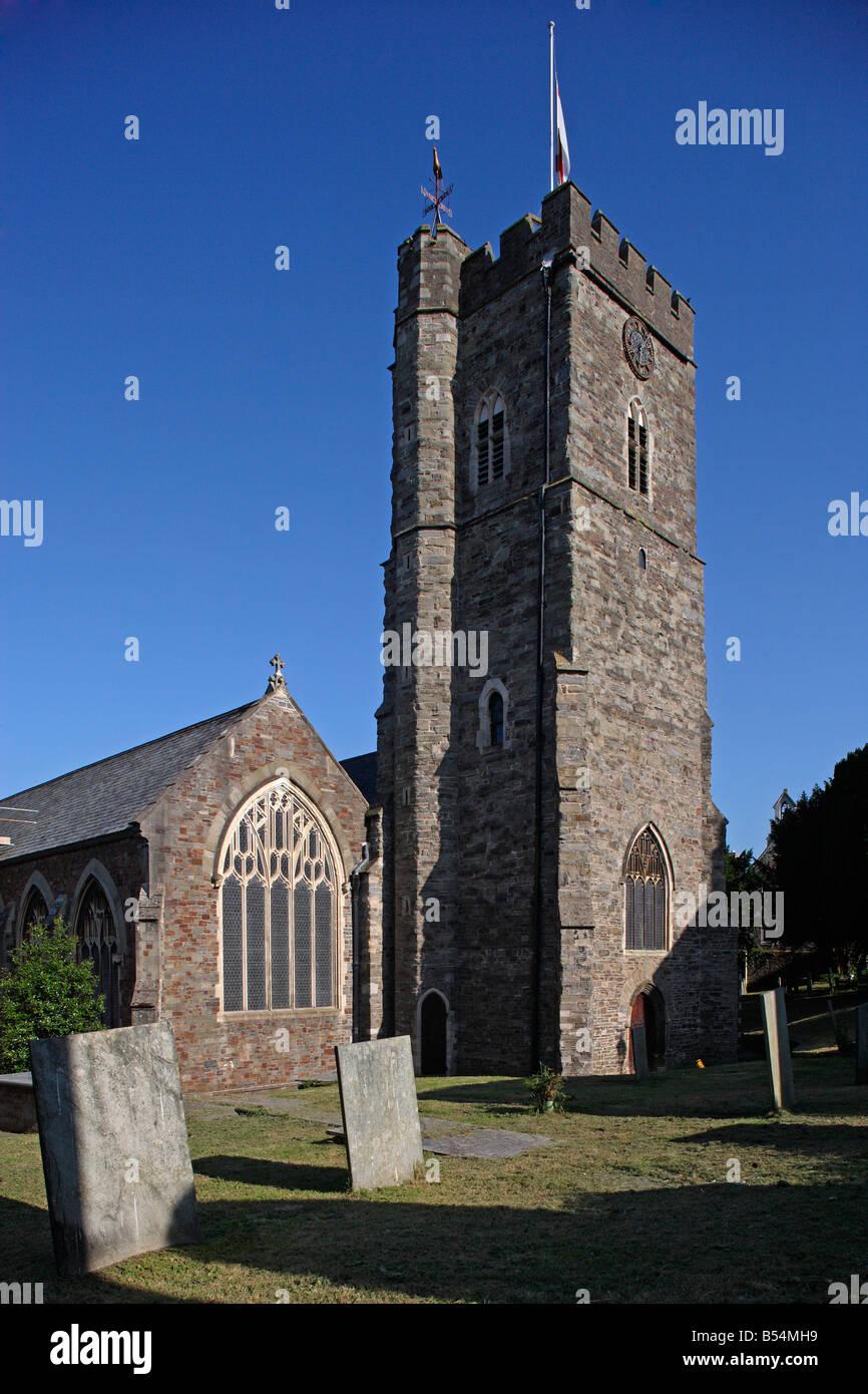 Bideford church St Mary s Parish Church Devon UK - Stock Image