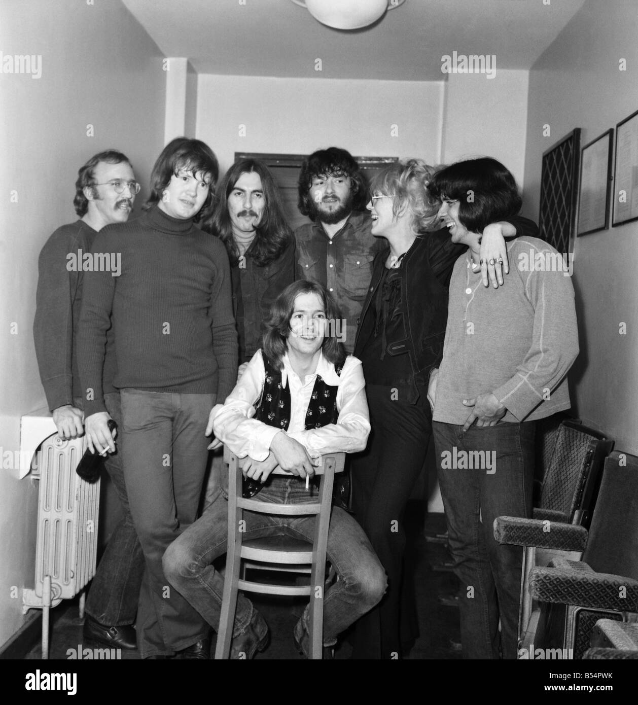 Entertainment: Pop Music: Beatle George Harrison with Pop group Delaney and Bonny and the friends. Picture at Colston - Stock Image