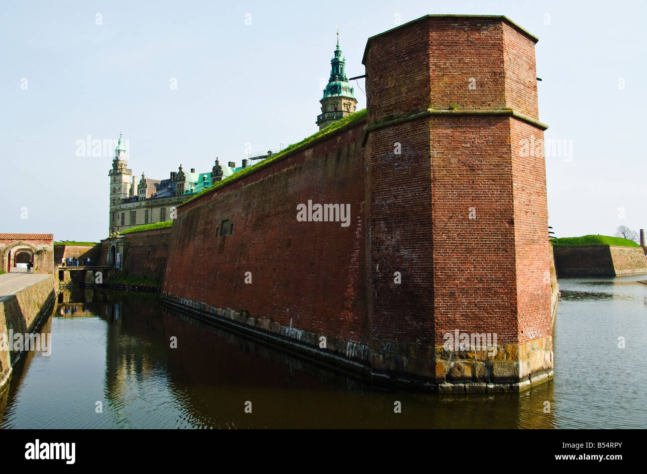 Kronborg Slot Elsinore Castle Helsingør Denmark setting for Shakespeares Hamlet - Stock Image