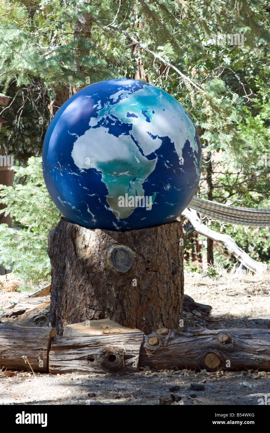 The World on a stump - Stock Image