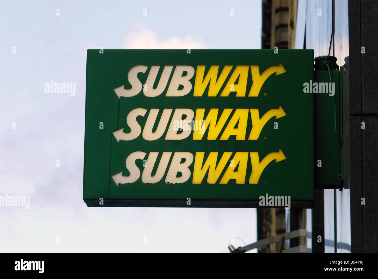 Subway Sandwich Sign - Stock Image