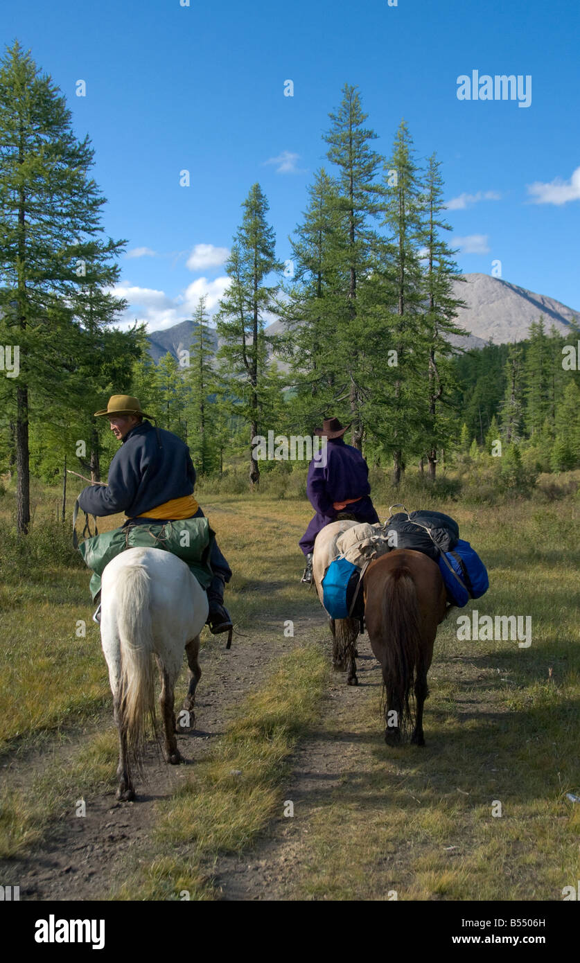 Nomad Guides Northern Mongolia - Stock Image
