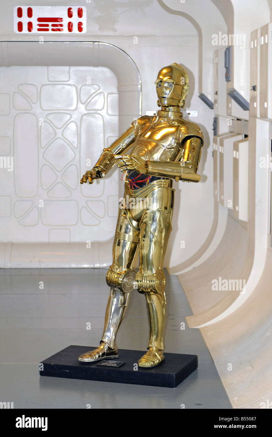 CP3O character from the Star Wars Movie seen at the London Movie Museum - Stock Image