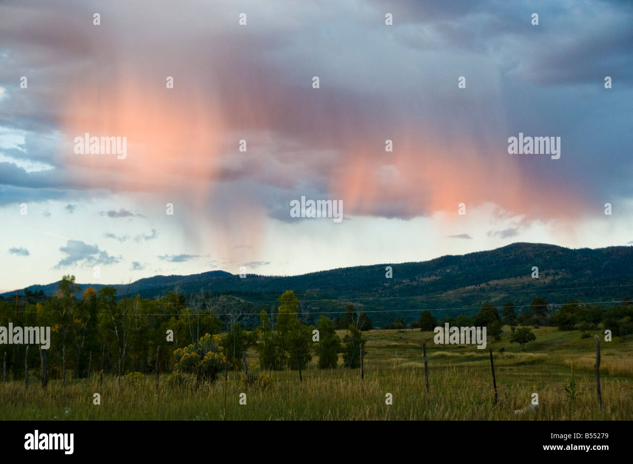 Clouds over sky in New Mexico Stock Photo