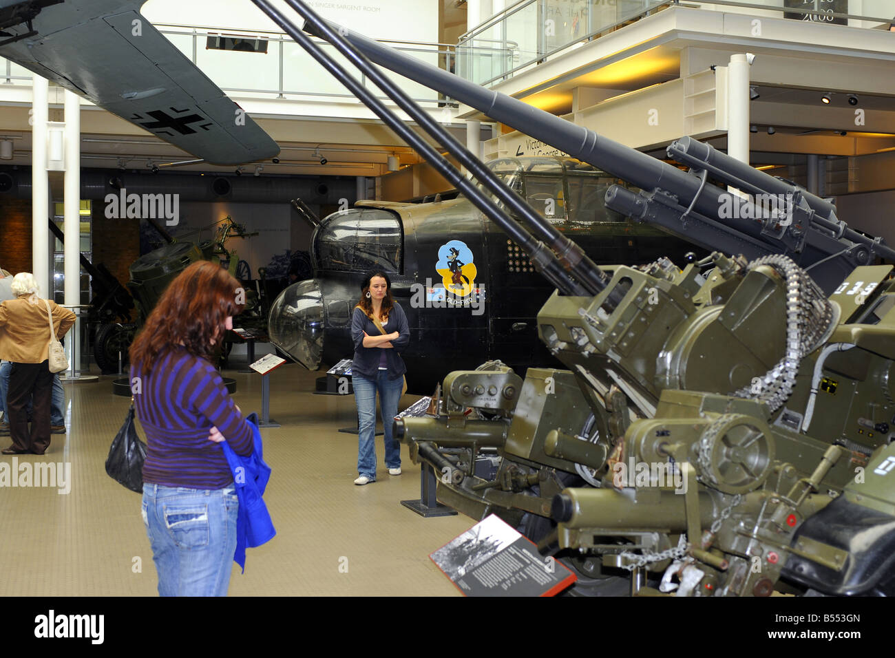 Display of military memorabilia at the Imperial War Museum London - Stock Image