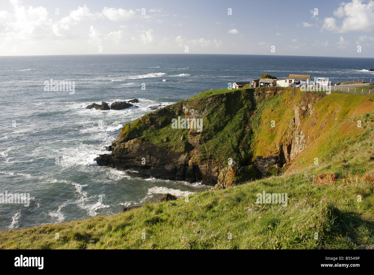 Lizard Point, the most southerly point of mainland Britain, Cornwall - Stock Image