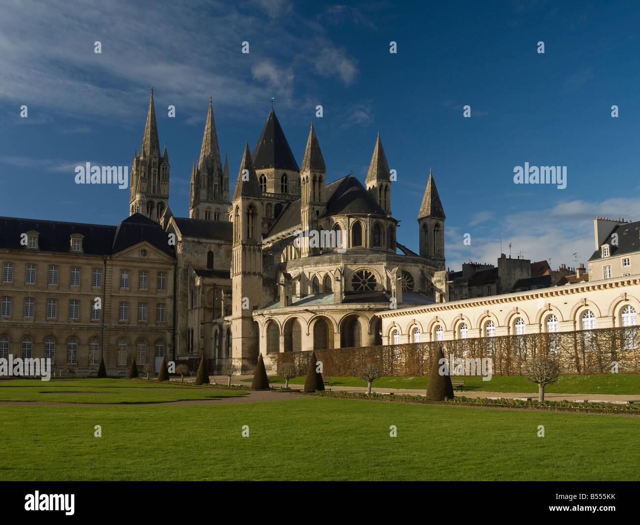 France Normandy Caen Saint Etienne abbaye aux hommes men's abbey - Stock Image