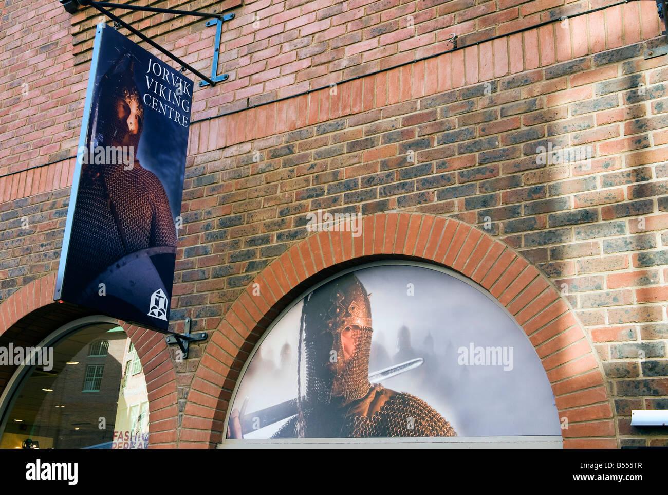 Jorvik viking centre in York, England, 'Great Britain' - Stock Image