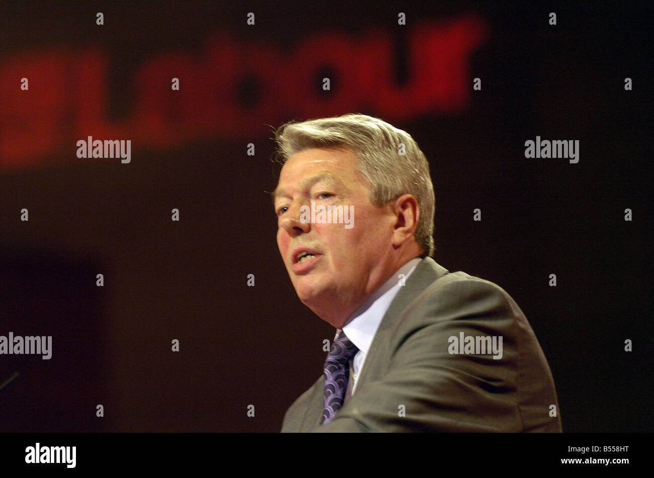 Labour Party Conference Bournmouth 25th September 2007 Deputy Leader Alan Johnson at conference today - Stock Image