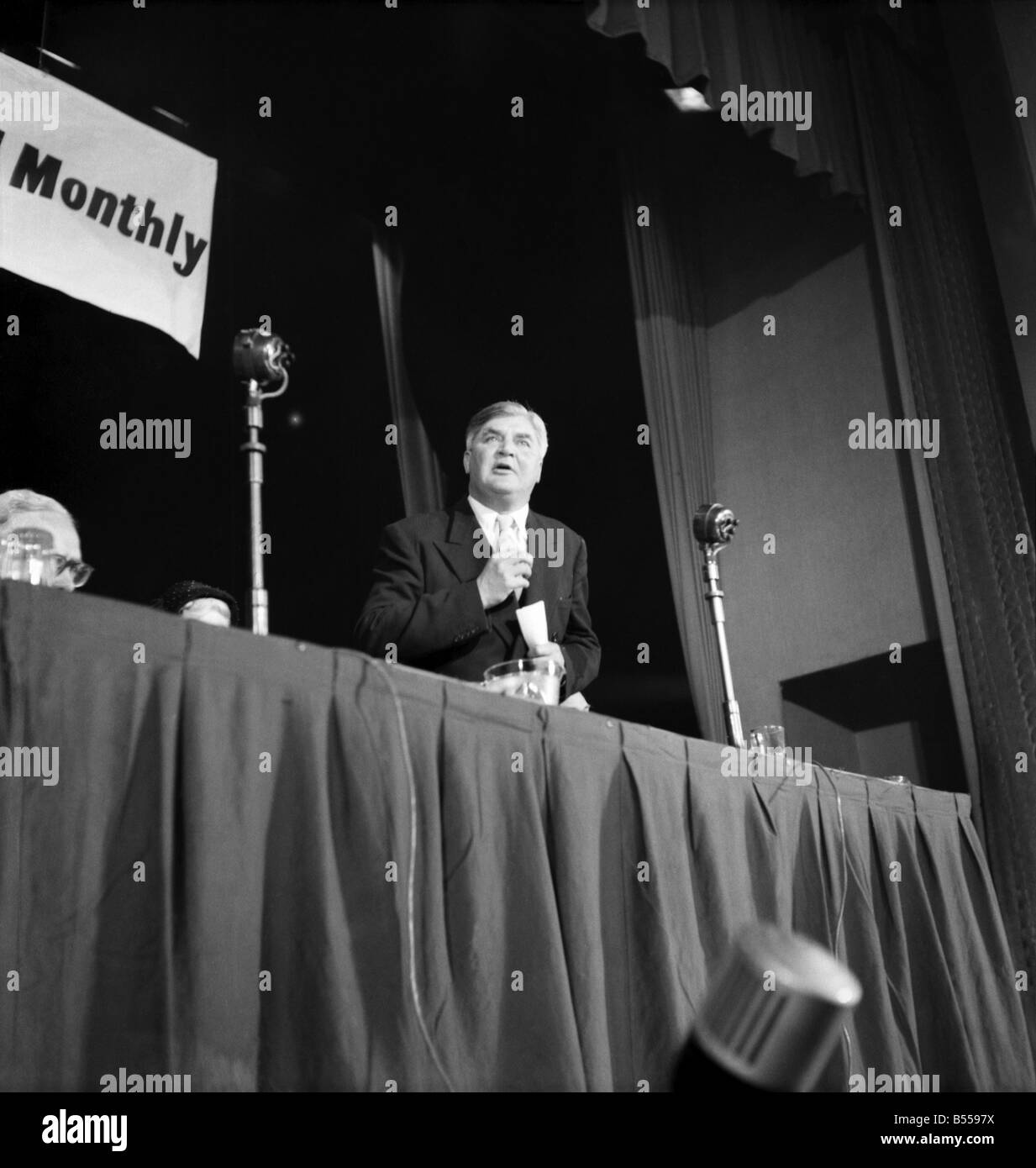 Labour Party Conference 1953: Nye Bevan addressing meeting. September 1953 D5844-007 - Stock Image