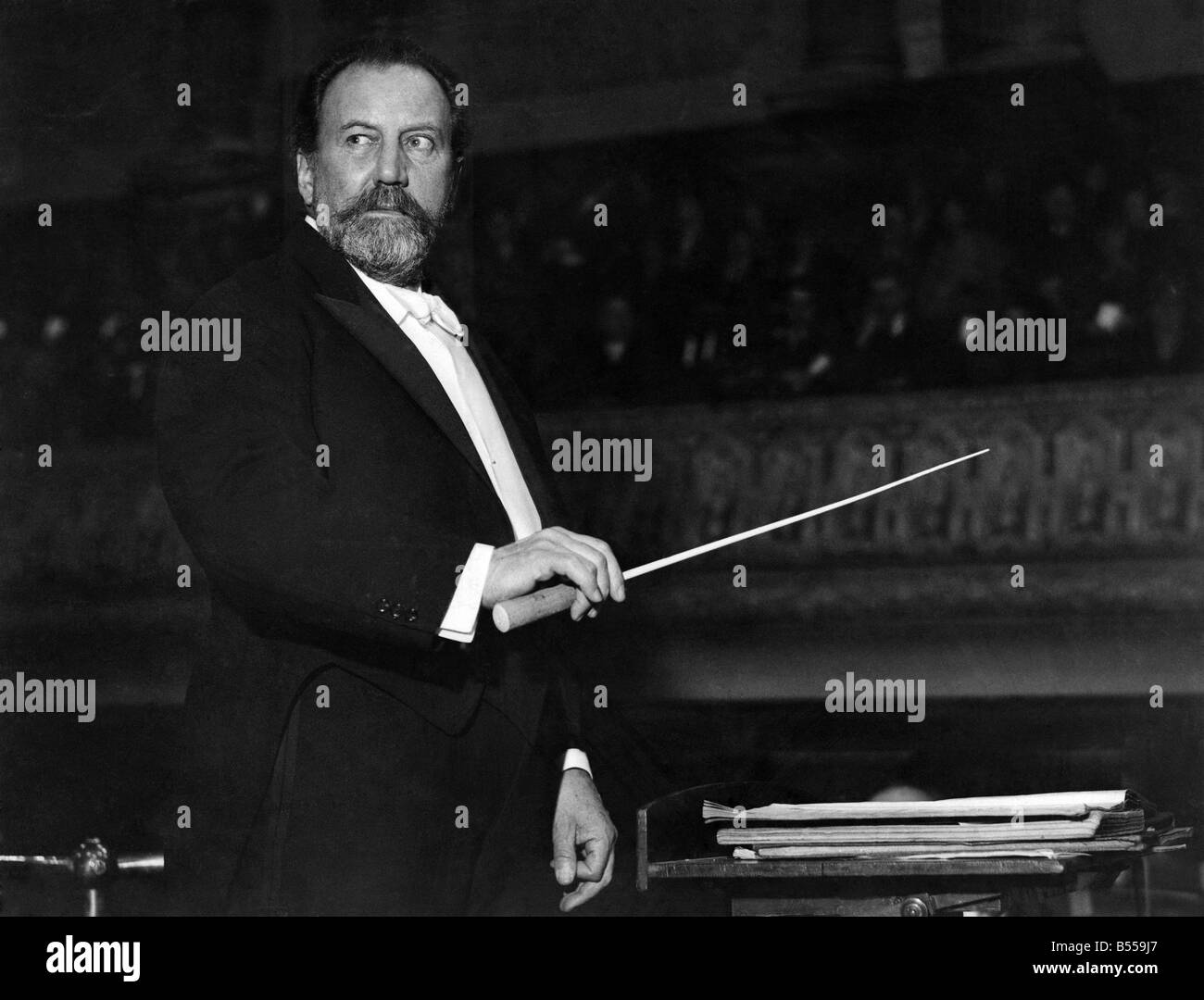 Sir Henry Wood, forever associated with the Promenade Concerts which he conducted for half a century. Founded in - Stock Image