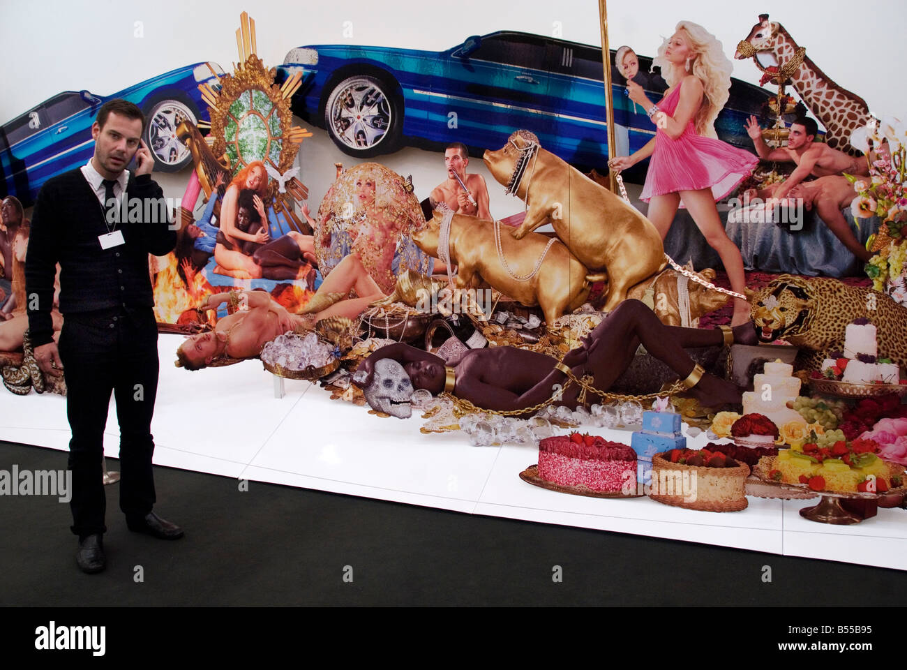 Frieze art fair Decadence by David LaChapelle - Stock Image