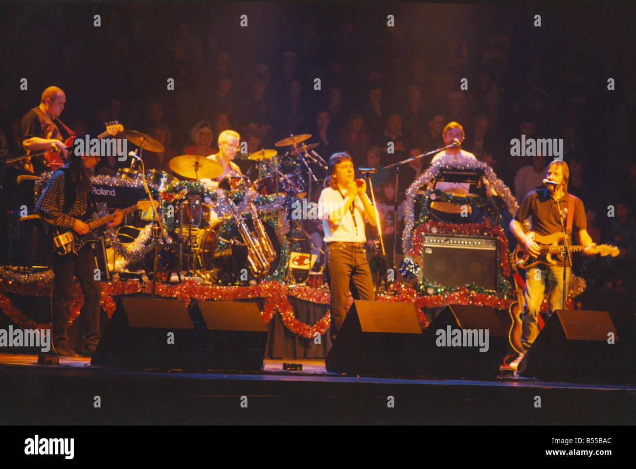 Lindisfarne s Christmas concerts at the Newcastle City Hall 23 12 92 - Stock Image