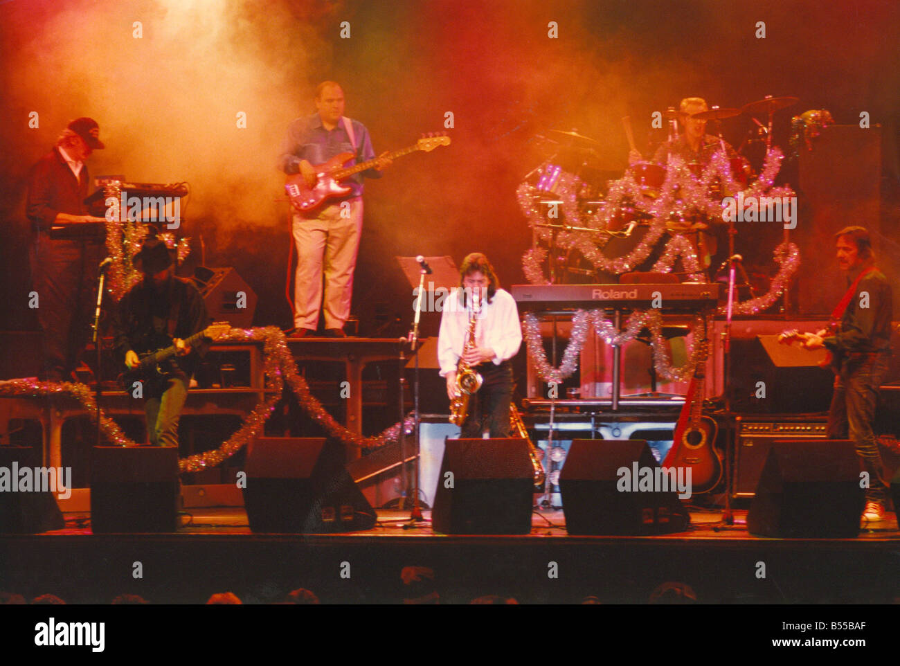 Lindisfarne s Christmas concerts at the Newcastle City Hall 20 12 91 - Stock Image