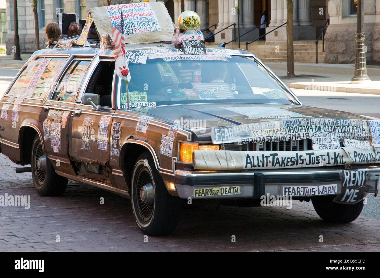 Preachers Car - Stock Image