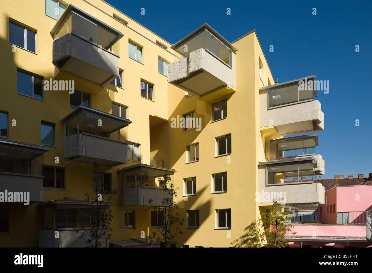 Wien Terrassenhaus Buchengasse Architekt Rüdiger Lainer 2008 - Stock Image