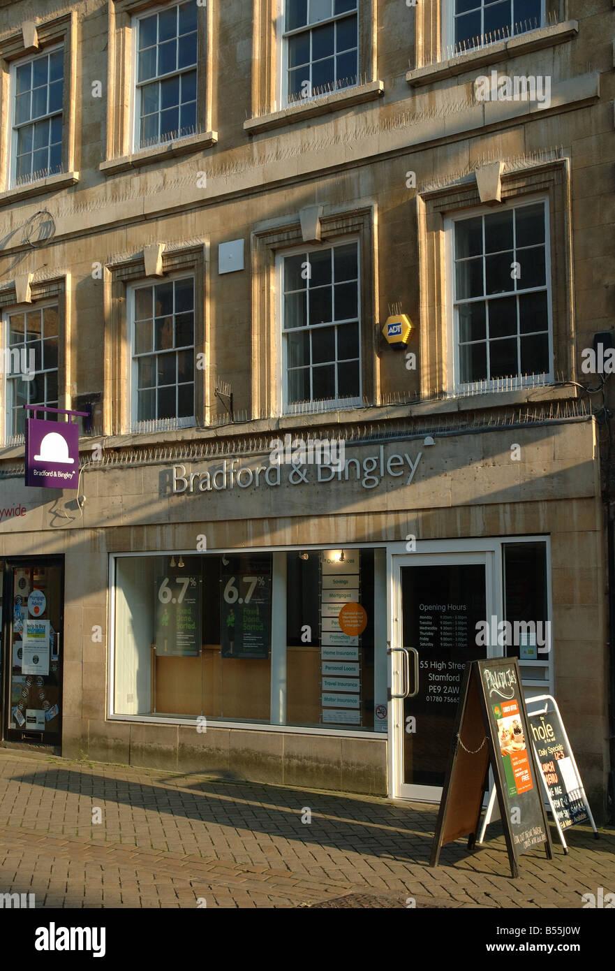 Bradford & Bingley branch, Stamford, Lincolnshire, England, UK - Stock Image