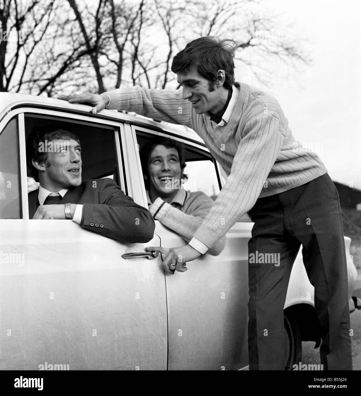 Motor Cars: 31 year old Bryan Nash of Nunhead, with his 1966 MK1 Ford Contina, with co-diver Brian Ashley (22) of Stock Photo