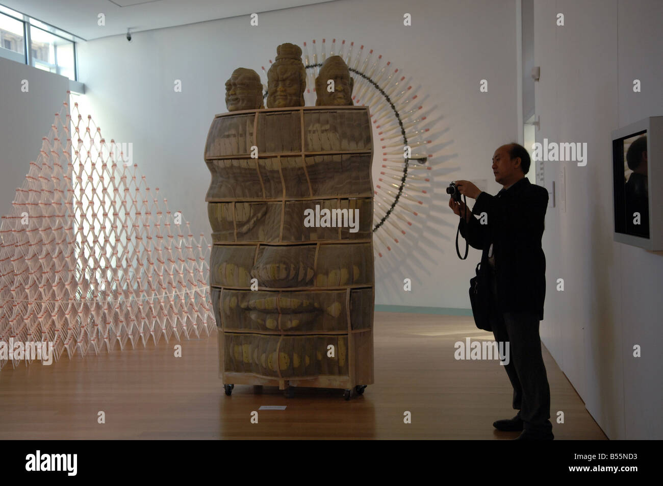 The Museum of Arts and Design opens at Columbus Circle in New York Stock Photo