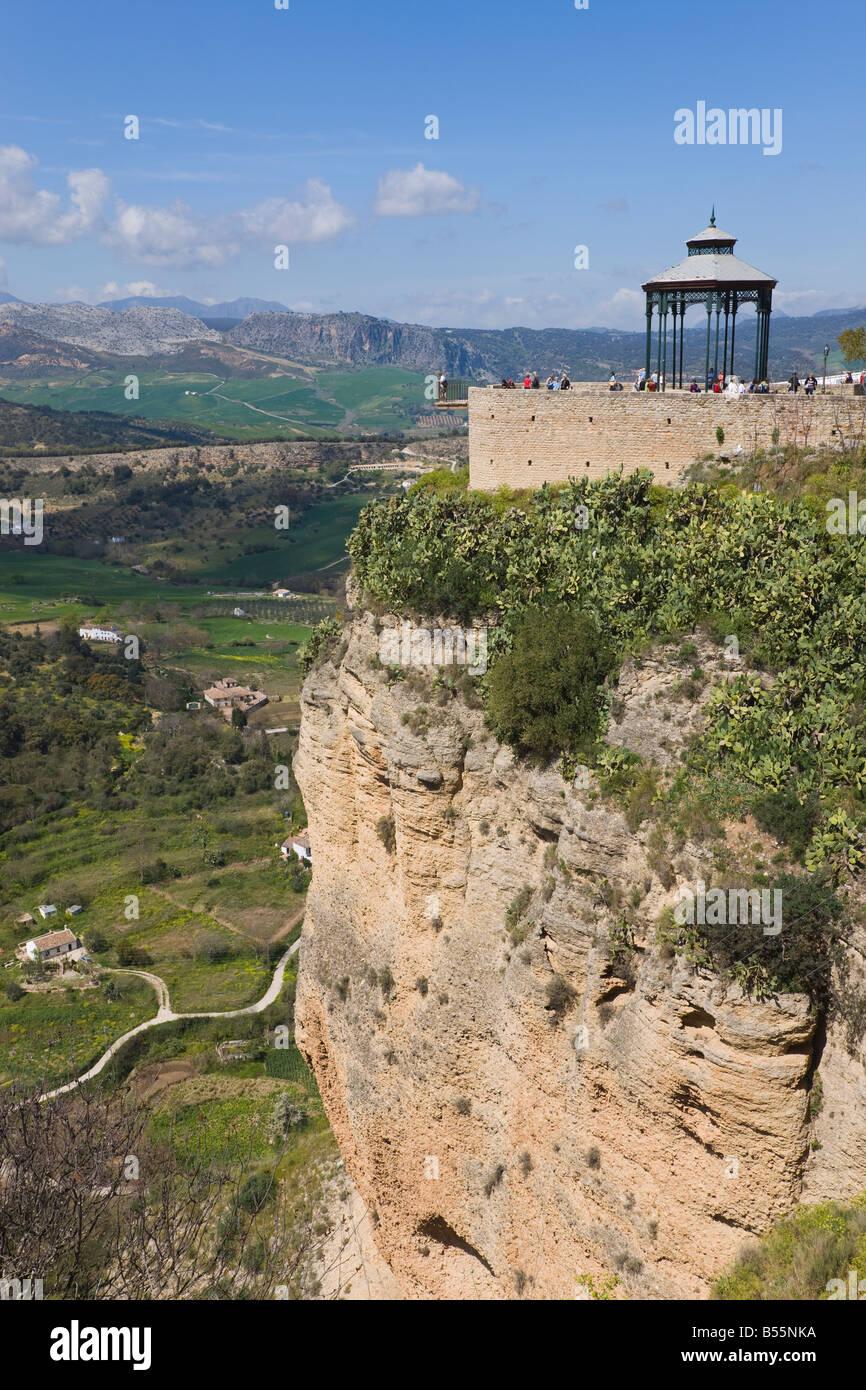 Ronda Malaga Province Spain Lookout over the mountains of the Serrania de Ronda - Stock Image