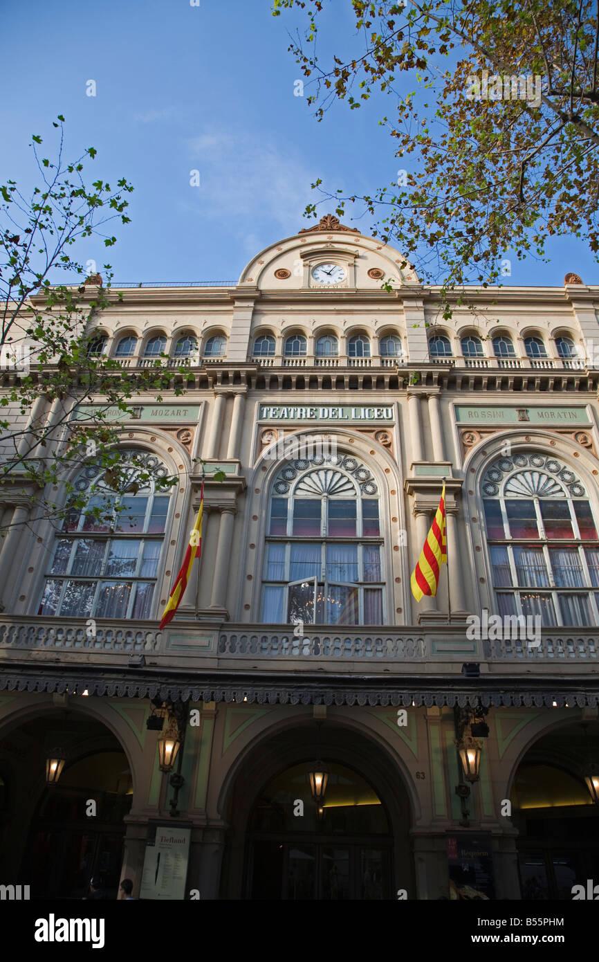 The Gran Teatre del Liceu at Barcelona - Stock Image