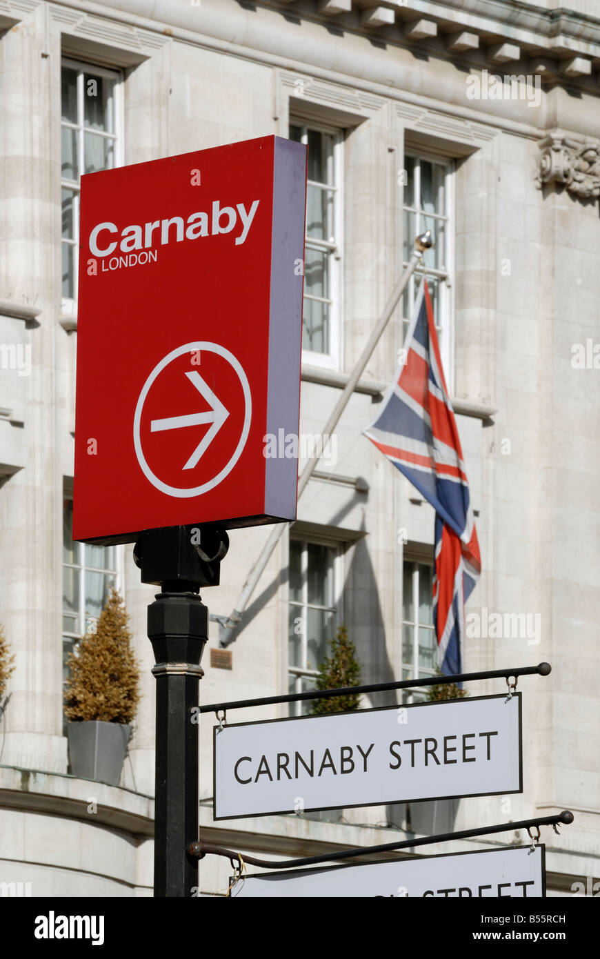 Carnaby Street sign, London - Stock Image