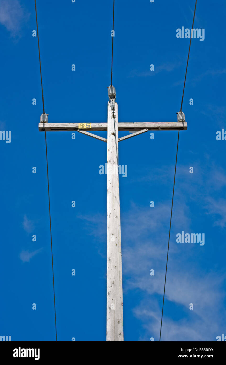 Electric Pole Power Lines Wires Stock Photos & Electric Pole Power ...
