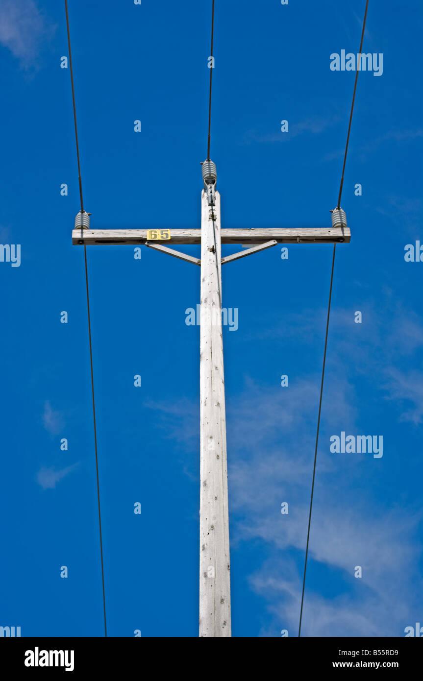 Telephone Electric Pole Wires Insulators Stock Photos & Telephone ...