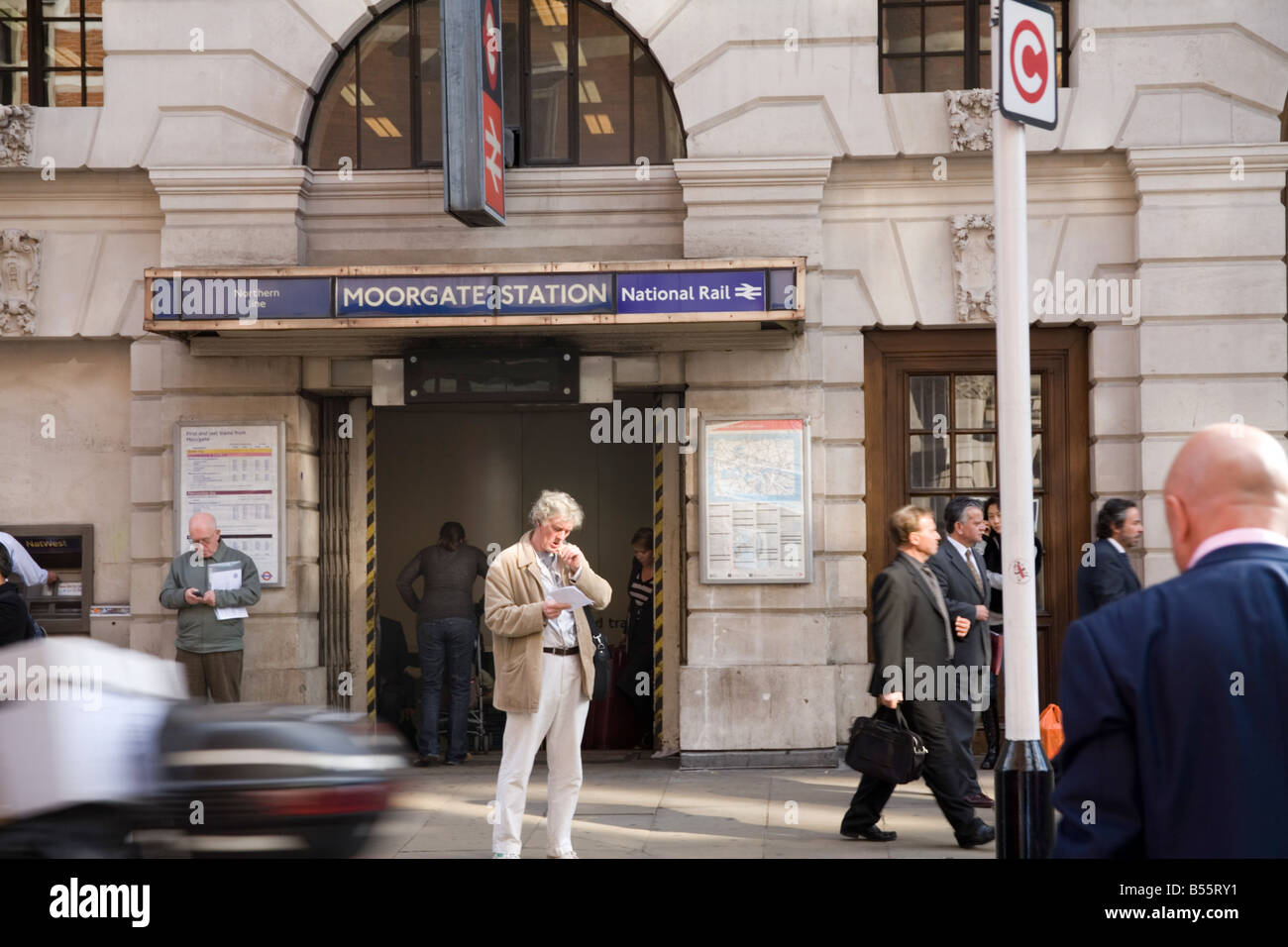 Moorgate Tube Station London - Stock Image