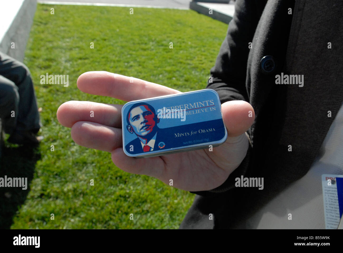 Barack Obama Peppermints We Can Believe In are seen on Thursday October 23 2008 Richard B Levine - Stock Image