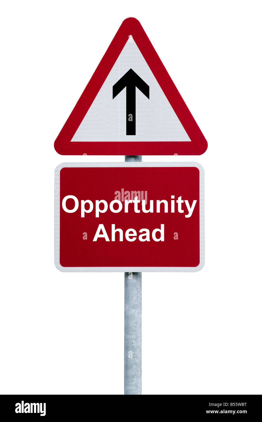 Opportunity ahead - Stock Image