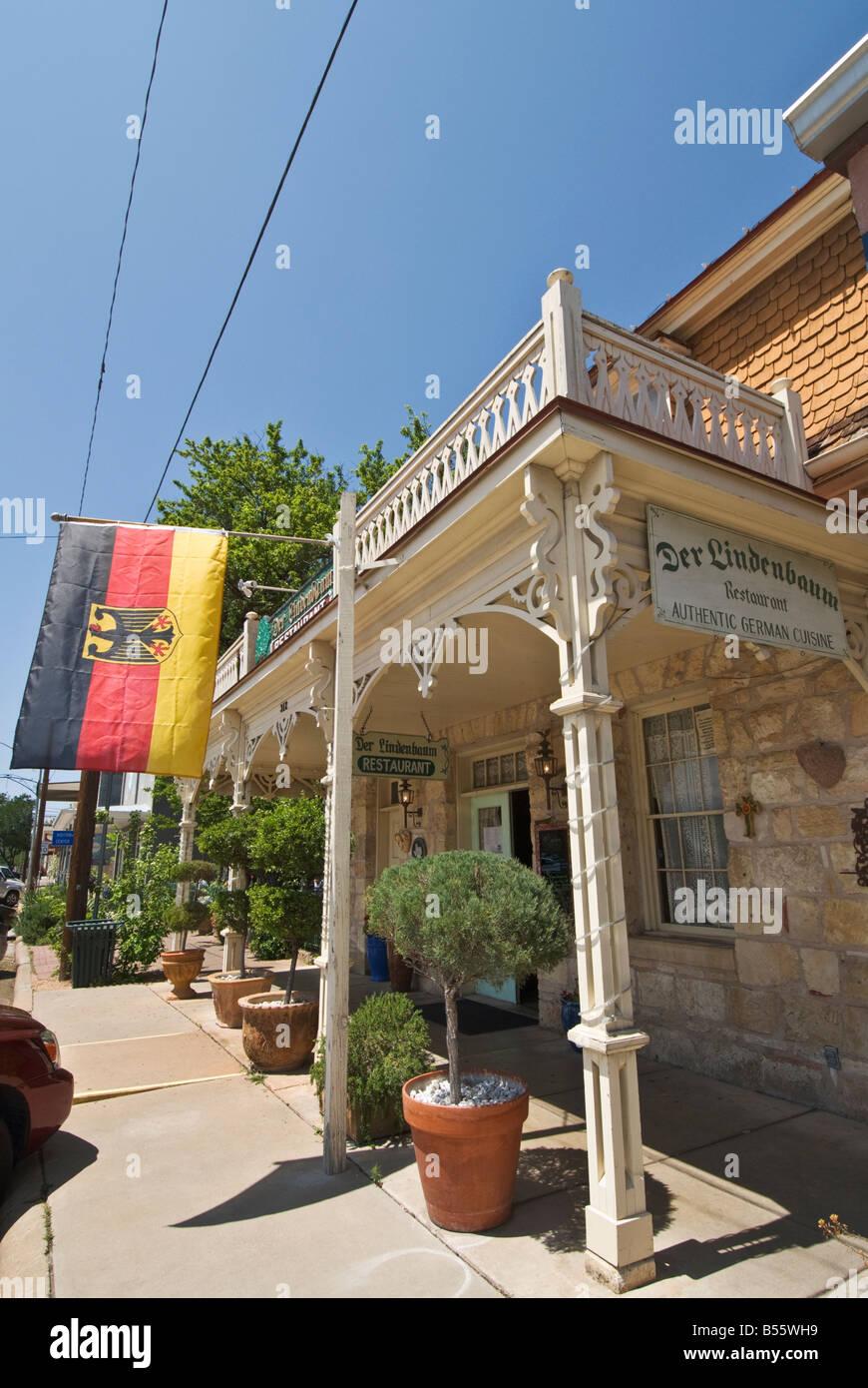Texas Hill Country Fredericksburg Der Lindenbaum German Cuisine